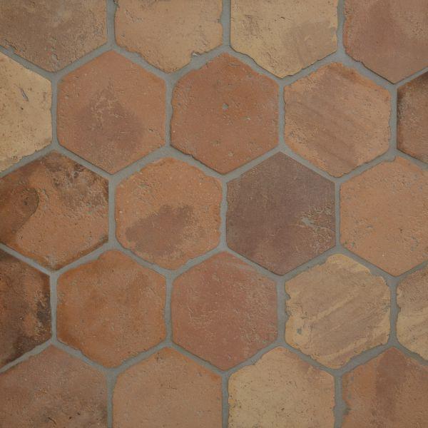 Antique Terracotta Hexagon Ca 39 Pietra