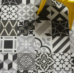 Patchwork Grey Encaustic