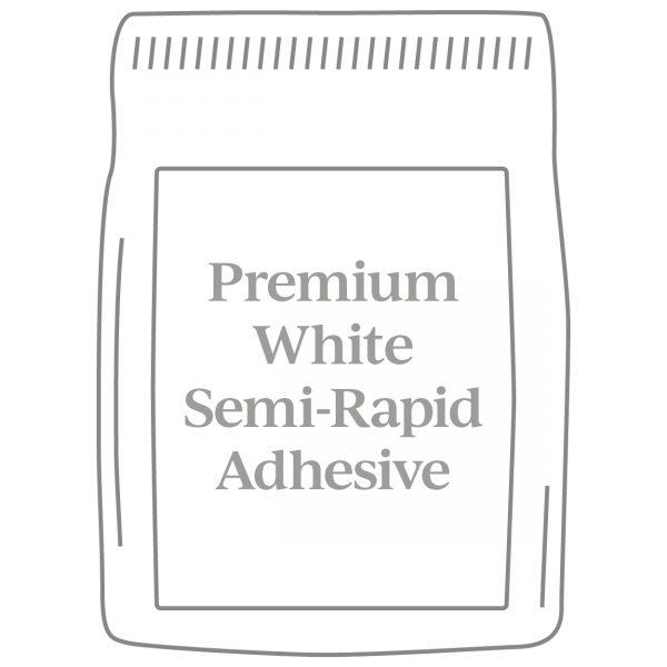 Premium White Semi-Rapid Adhesive