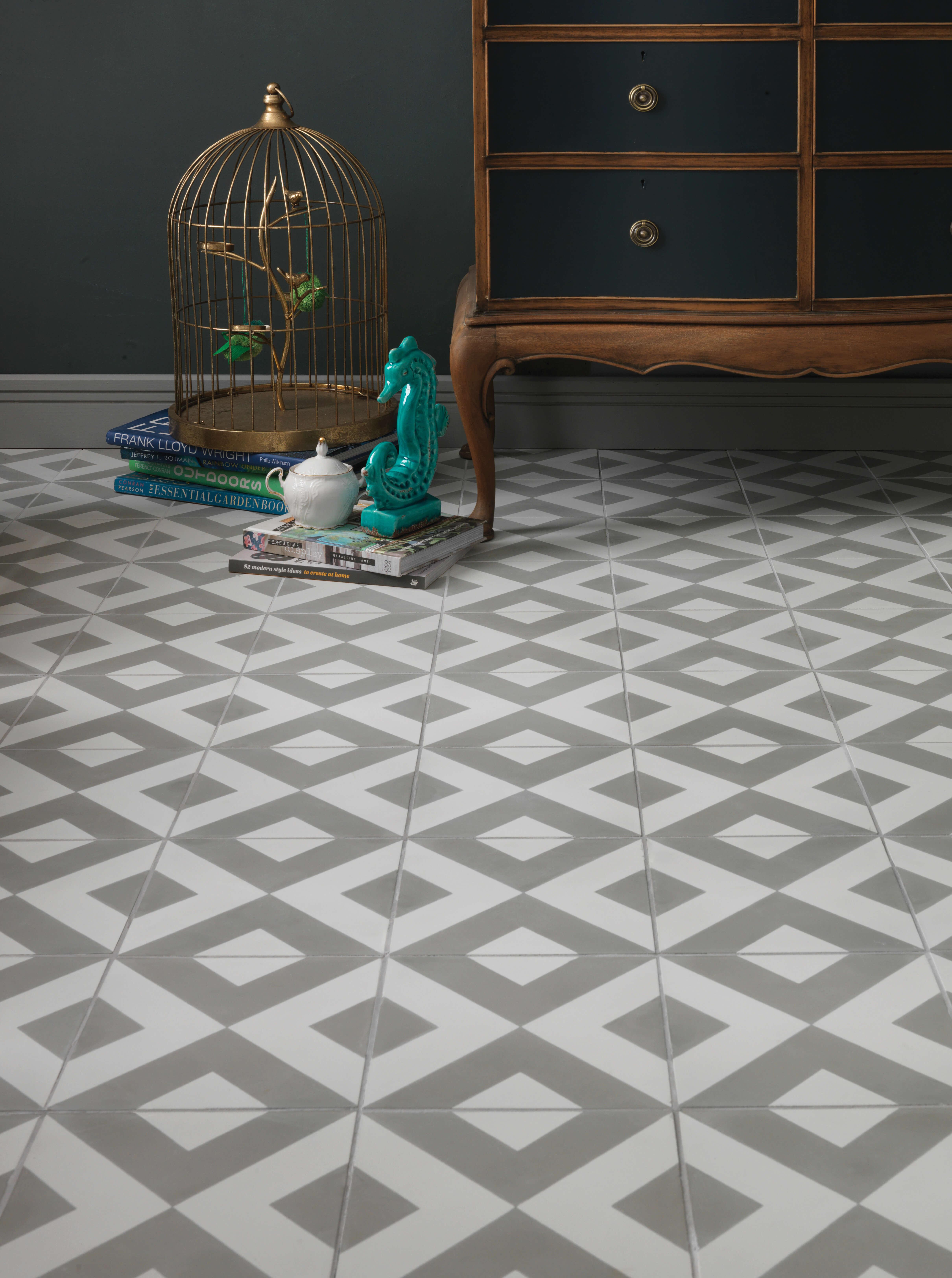 Modern harlequin pattern tile ca 39 pietra for Modern house tiles