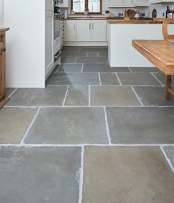 Old Westminster stone flooring in a country kitchen