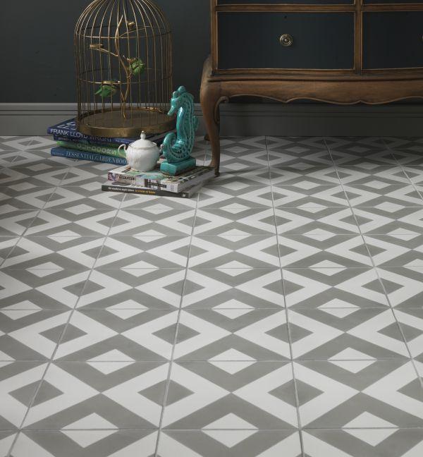 Modern Harlequin Grey Encaustic Tiles Ca Pietra