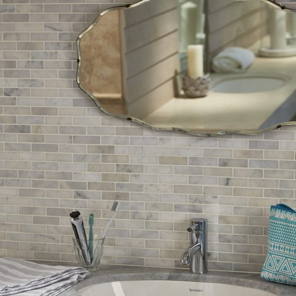 Long Island Marble Slim Brick Mosaic