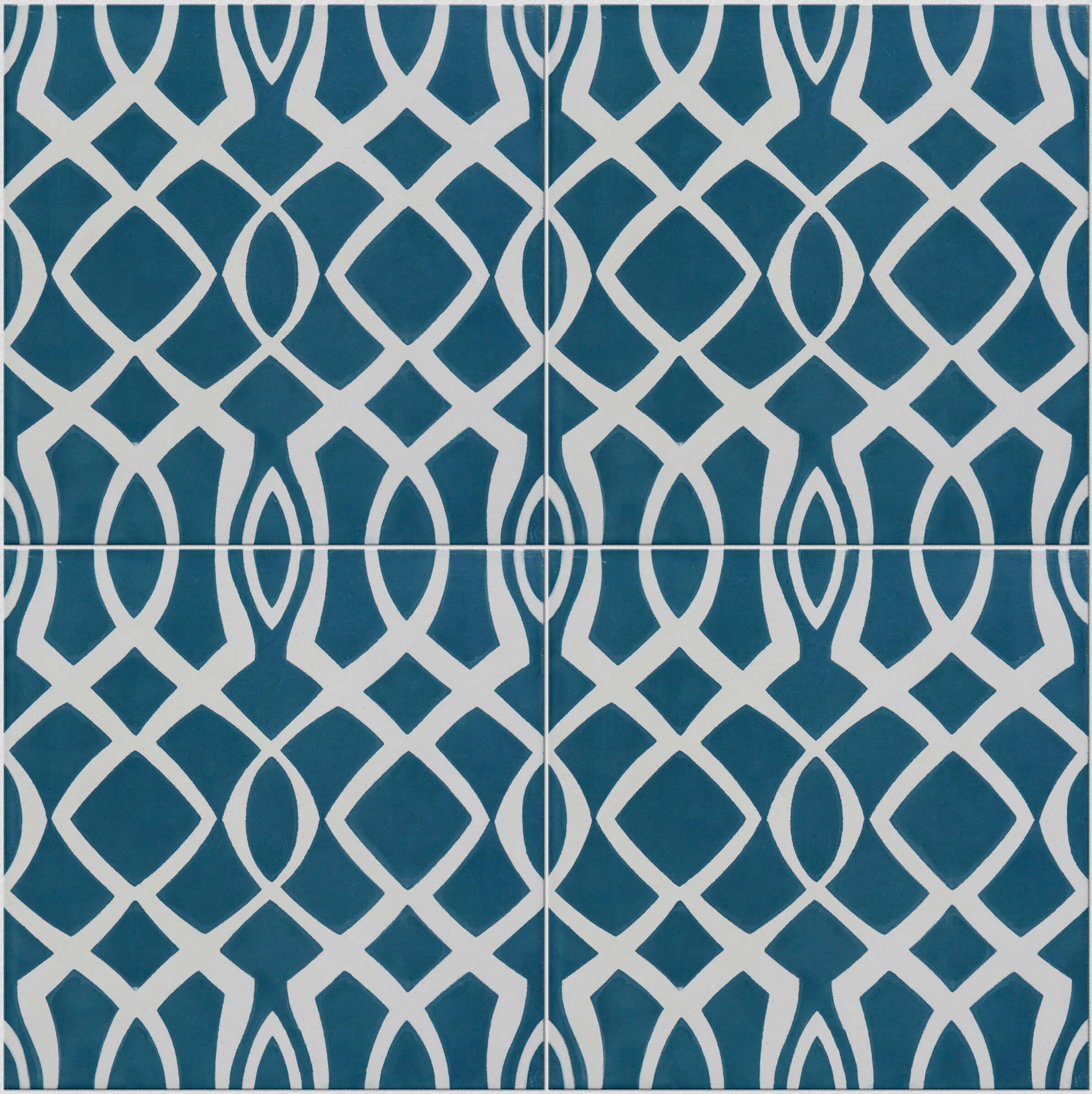 Modern Lattice Blue Tile Tiles | Ca\' Pietra