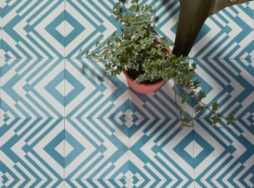Origami Pattern Encaustic Tiles