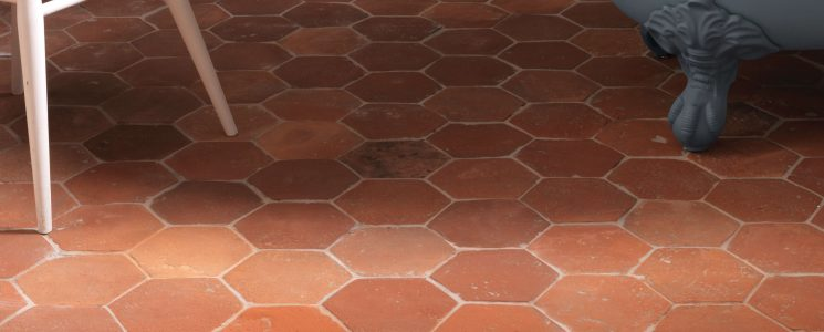 Antique Terracotta Hexagon LS
