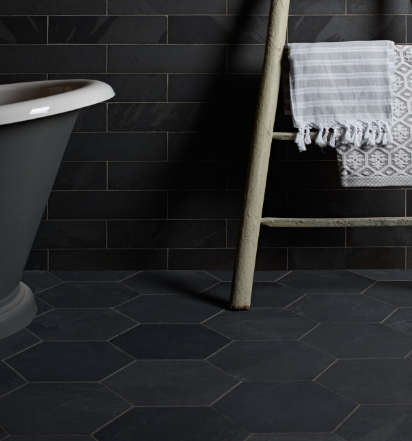 Metropolitan Slate Pewter Hexagon