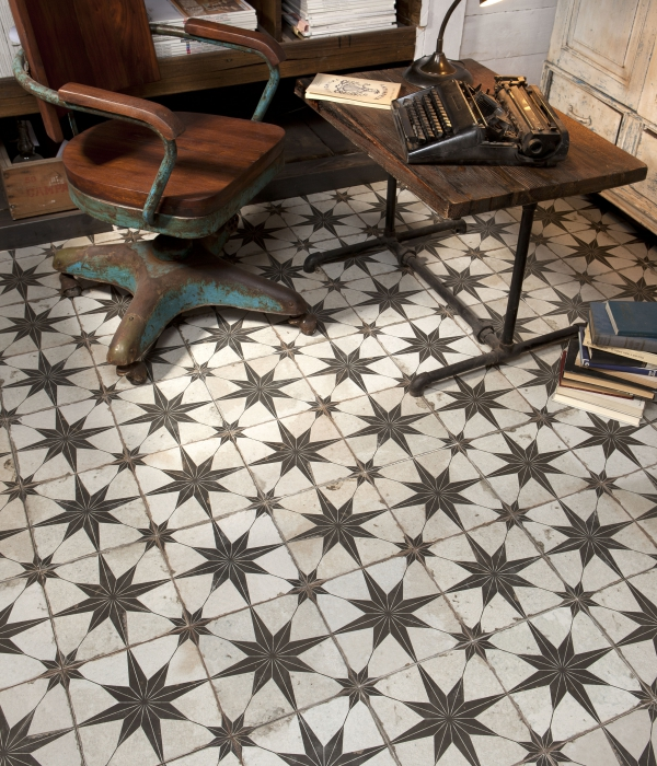 Worlds End Tiles >> Spitalfields Retro Star Ceramic Tiles | Ca' Pietra