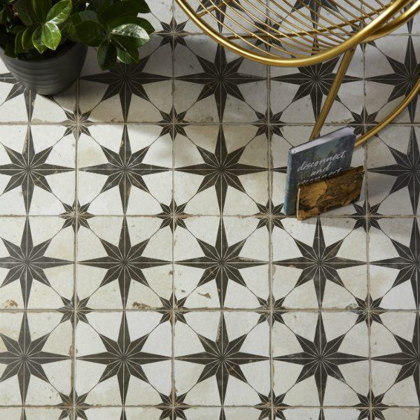 Spitalfields Ceramic Retro Star Black