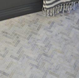 Long Island Marble Herringbone Mosaic