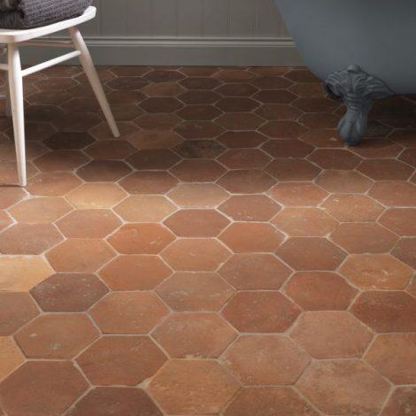 Antique Terracotta Hexagon Tiles Ca Pietra