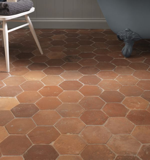Antique Terracotta Hexagon Tiles Ca Pietra