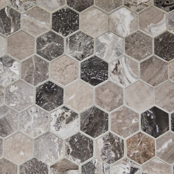 Outlet – Palladio Marble Hexagon Mosaic