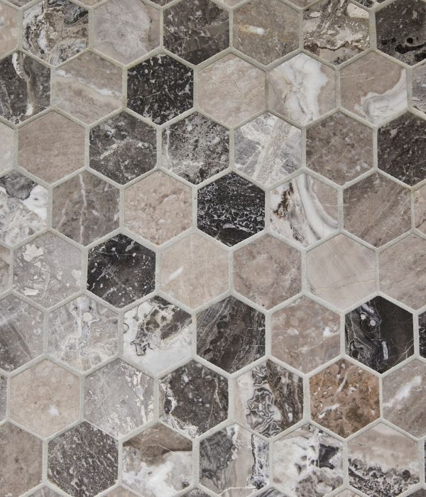 Palladio Marble Hexagon Mosaic (1)