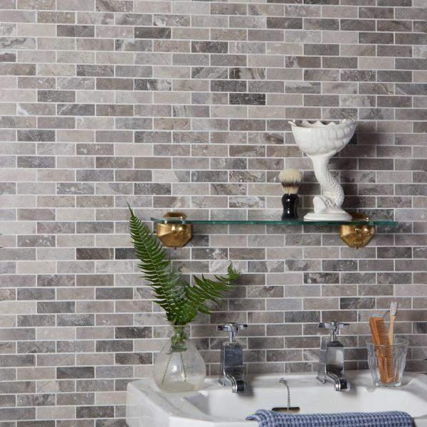 Palladio Marble Slim Brick Mosaic