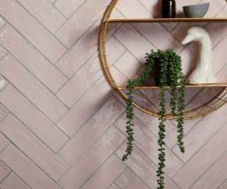 Dusty Pink Carter Ceramic Tile