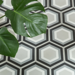 Patisserie Monochrome Hex Tile
