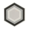 Patisserie Monochrome Hexagon Tile