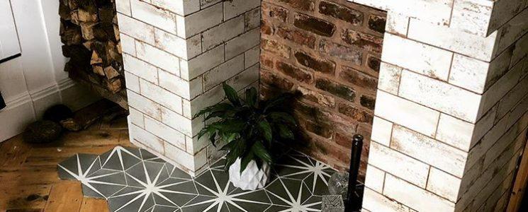 Lily Pad Clay Encaustic Tiles
