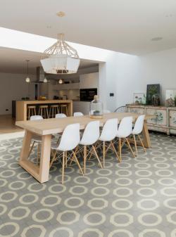 Illusion encaustic cement pattern tile by Ca' Pietra