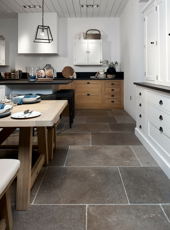 Mixed material kitchen design inspiration