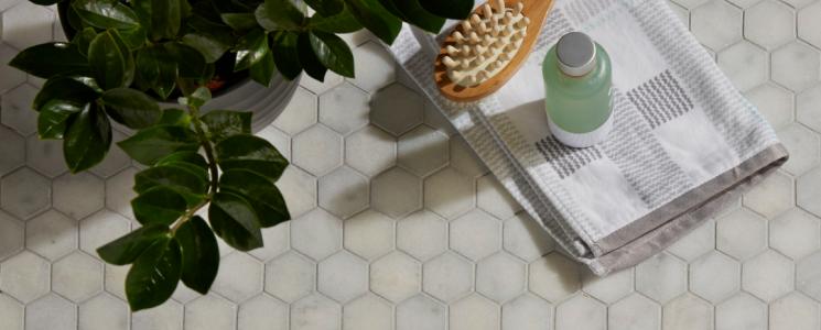 Long Island Hexagon Mosaic tiles