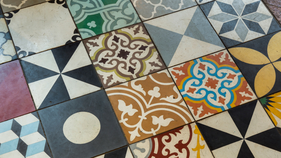 Patchwork Multi-coloured tile | Ca' Pietra