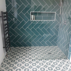 Walk in showroom using Ca' Pietra Cordoba encaustic tiles