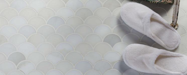Zen Garden scallop mosaics