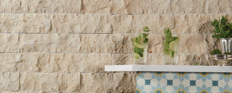 Rockface Limestone Brick