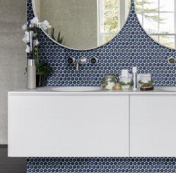Yoga Penny Mosaic Deep Blue Porcelain