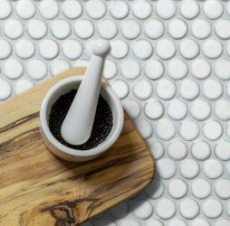 Yoga Penny Mosaic White Porcelain