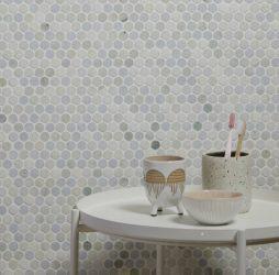 Lotus Penny Marble Mosaic