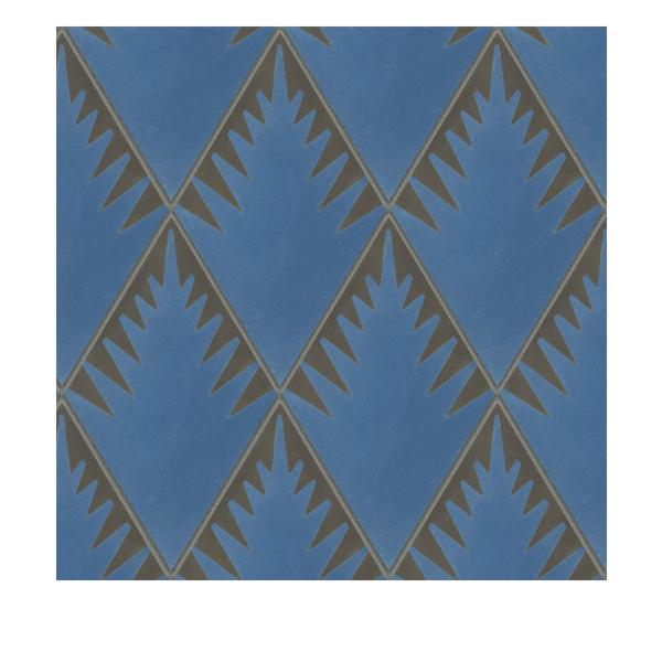 Outlet – Jigsaw Fern Encaustic by Neisha Crosland Blue Charcoal