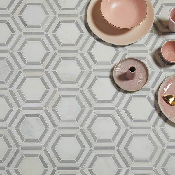 Florence Hexagon Marble Mosaic