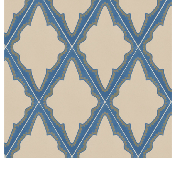 Outlet – Jigsaw Moghul Patch Encaustic by Neisha Crosland Shrimp Blue