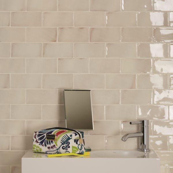 Seaton Crackle Ceramic White Sands