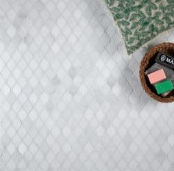 Long Island Marble Honed Teardrop Mosaic