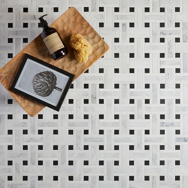 Zen Marble Grand Basket Weave Marble Mosaic