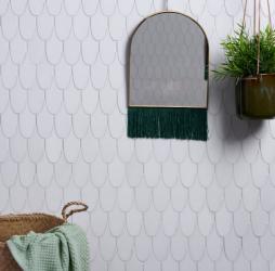 Plume Marble Swan Mosaic
