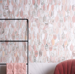 Plume Marble Flamingo Mosaic