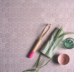 Brasserie Mosaic Pink Glass