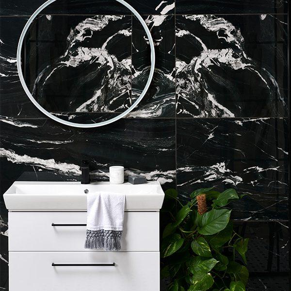 Marble Luxe Porcelain Noir