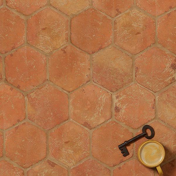 Marlborough Terracotta Hexagon