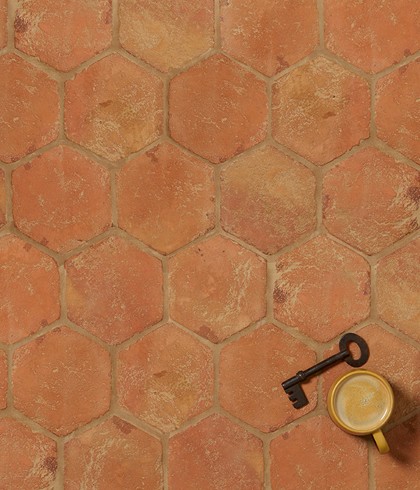 Marlborough Terracotta Hexagon