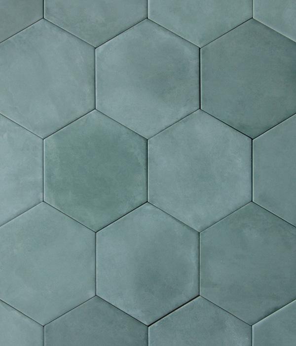 Medina Aqua Hex Tile group