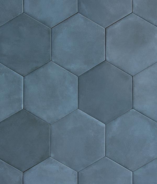 Medina Hex Navy Tile Group