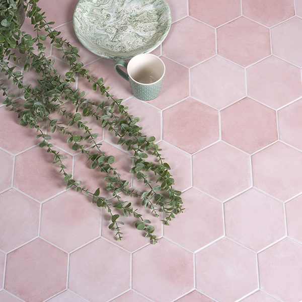 Medina Hexagon Rosa Porcelain