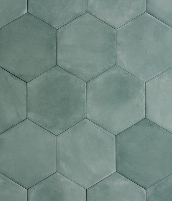Medina Salvia Hex Tile group