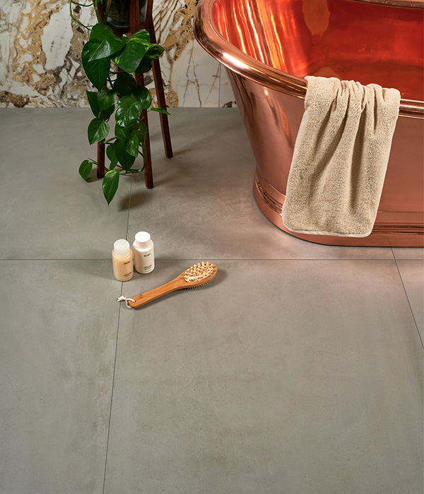 Rhine Porcelain Gris Floor Marble Luxe Bellissimo Wall